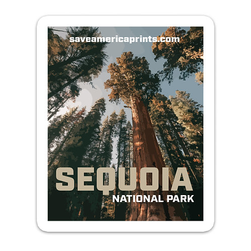 Sequoia National Park 3 x 3.75″ Sticker