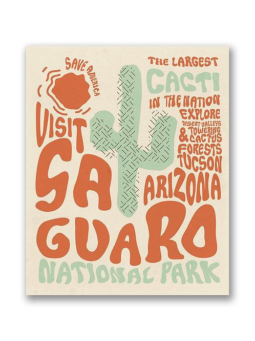 Retro Saguaro National Park Print