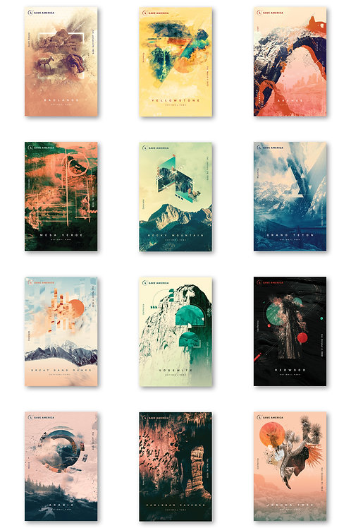 National Park Postcard Collection (12 pack)
