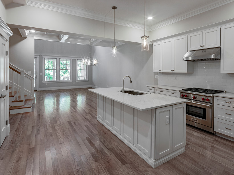 Kitchen, Dining & Living Rooms