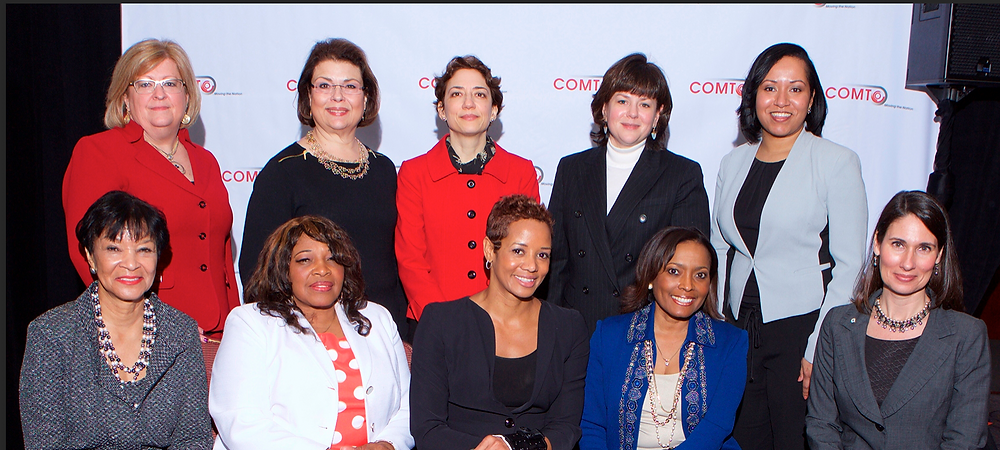 2015 Conference of Minority Transportation Officials (COMTO) Women Who Move the Nation Honorees, with pictured Carolyn Flowers at the bottom left. (Used with permission from the DOT archives.)