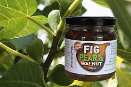 Fig Pear and Walnut chutney