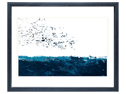 """Abstract Wood Photography """"Starlings By the Bay"""""""