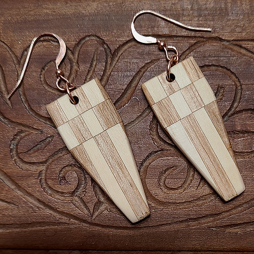 Earrings with Local Wood