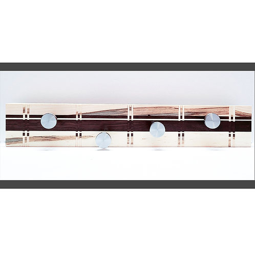 Wall Rack with Marquetry Design