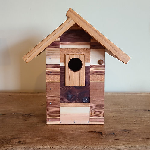 Birdhouse with Pattern Design