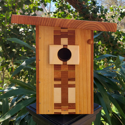 Birdhouse with Pattern Design