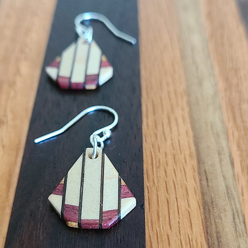 Earrings with Fine Inlay