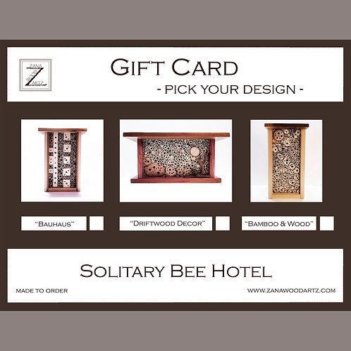 Order Your Bee Hotel