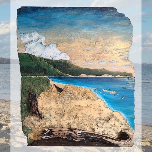 """""""Calvert Beach"""" Driftwood Art"""