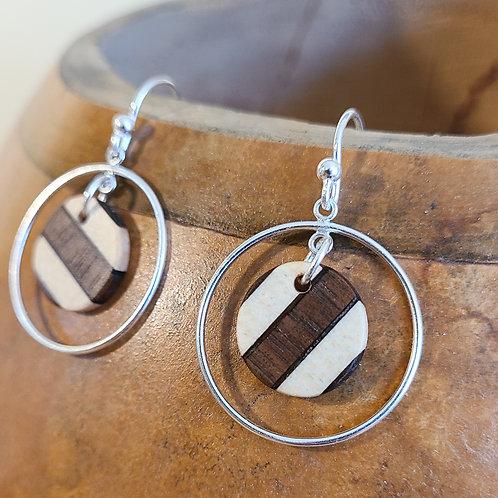 Striped Round Earrings in Loop
