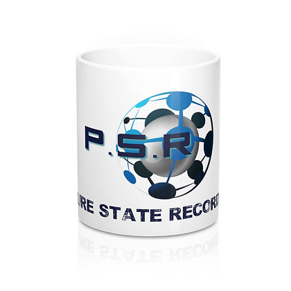 P.S.R Records White Mug 11oz
