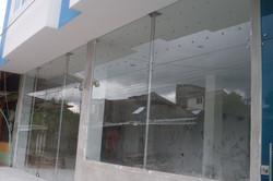 Fachada en vidrio