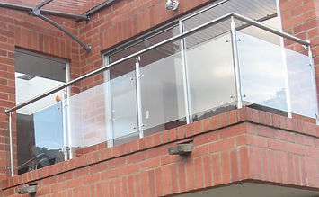 barandas balcones acero inoxidable y vidrio