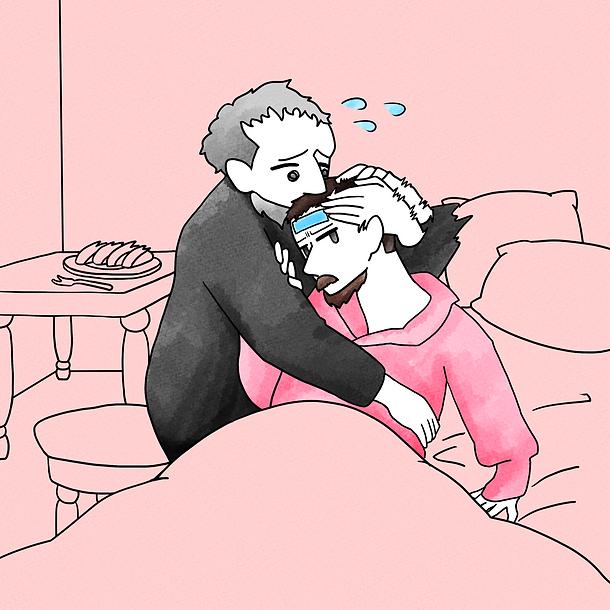 心配性のイワン雷帝と風邪の息子.png