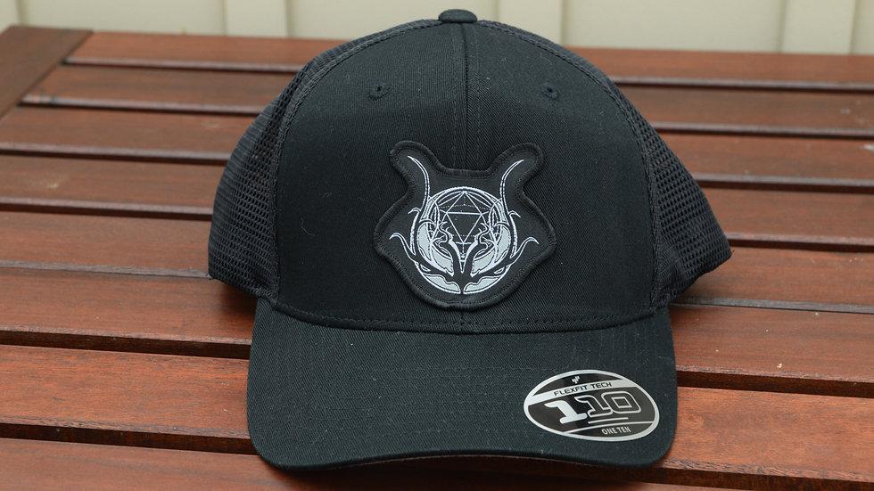 Logo Patch Hat - Black Trucker
