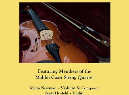 Malibu Coast String Quartet Concert on March 2