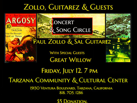 Live Concert: Zollo & Guitarez with Special Guest Great Willow