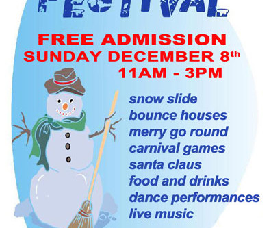 TCCC Annual Snowflake Festival Is This Sunday, Dec. 8!