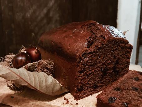 Chestnut Plum Cake with Orange flavour