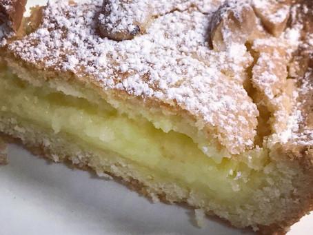 Torta della Nonna - Pasta frolla e crema pasticcera ..ricetta con frolla superba