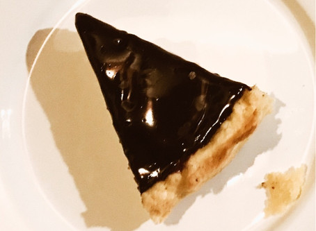 Semolina's Pie with chocolate ganache ..