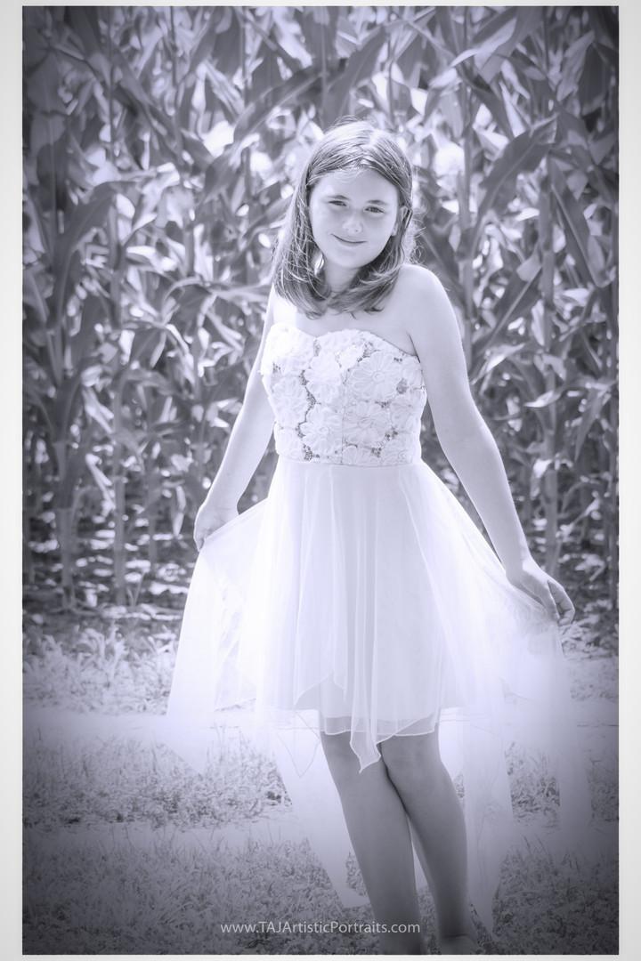 Little Girl in B&W