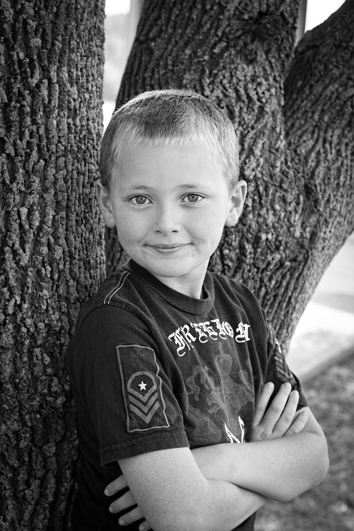 Childhood Portraits in B&W