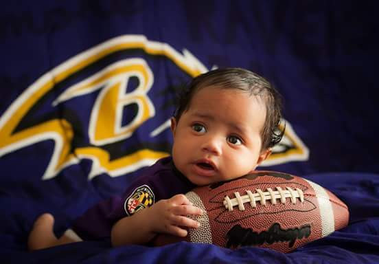Football themed Baby Portrait
