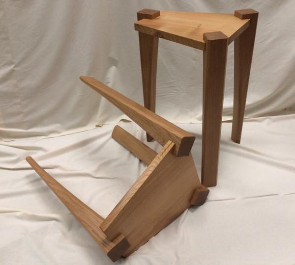 oak, fumed oak side tables