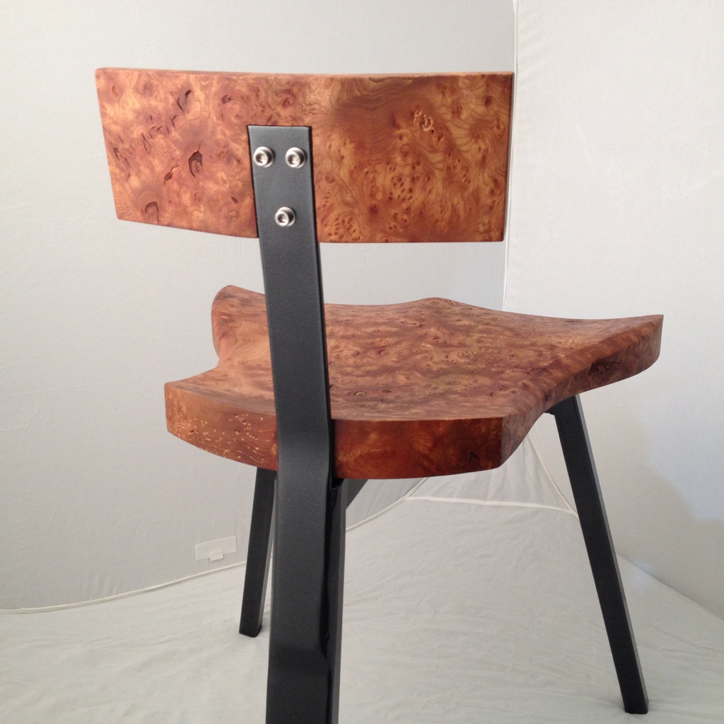 low backed chair