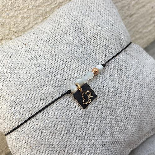 cordon perles nacrées blanche/ or