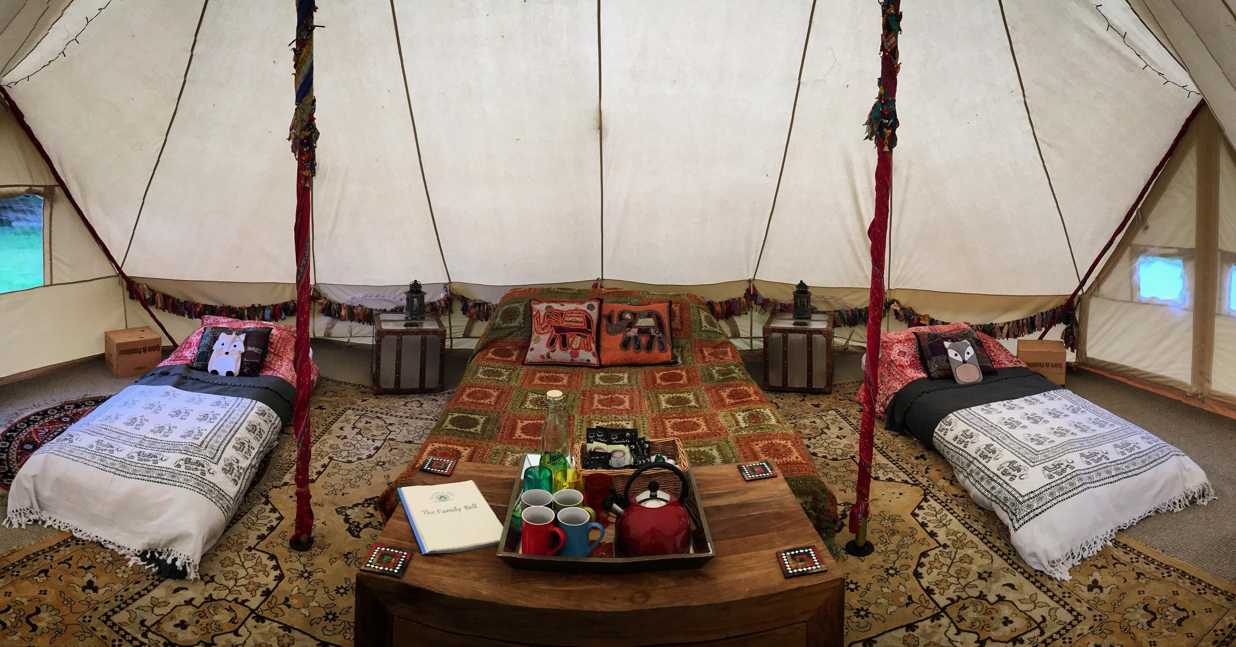 Family Emperor Bell Tent Interior