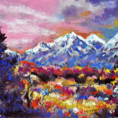 MOUNTAIN BEAUTY Pastel, 15x18 Framed