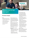 Polarion QA for Test Managers Fact Sheet