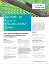 Simcenter 3D Acoustics Accelerated BEM solvers Brochure