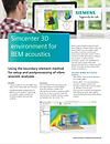 Simcenter 3D environment for BEM Acoustics Brochure