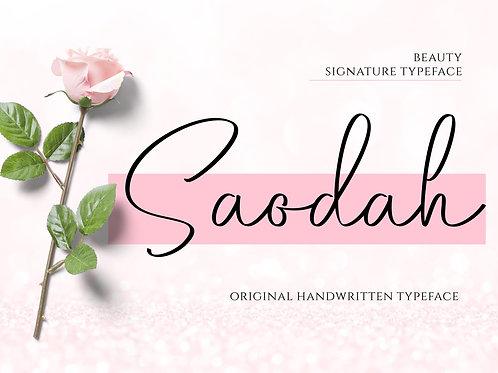 Saodah - Beautiful Signature Typeface