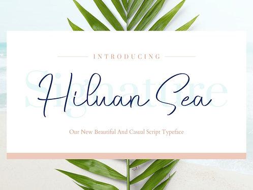 Hiluan Sea - Beautiful & Casual Script Typeface