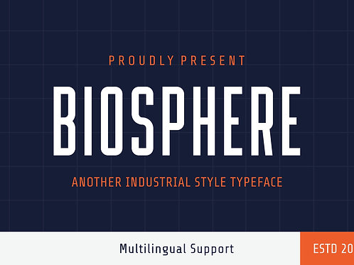 Biosphere – Another Industrial Style Typeface