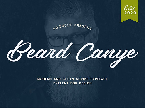 Beard Canye – Modern And Clean Script Typeface