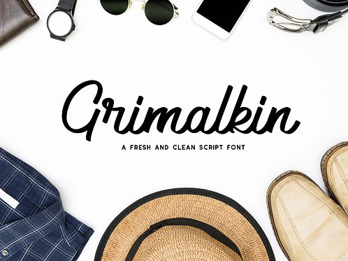 Grimalkin - Clean Script Typeface
