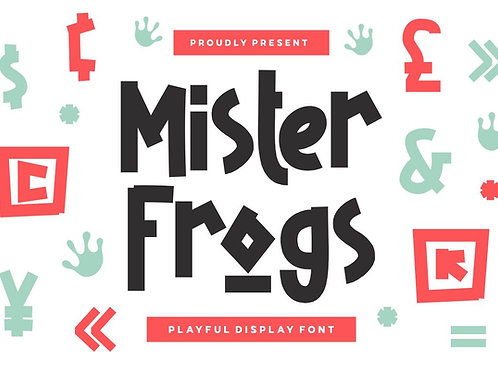 Mister Frogs - Display Font