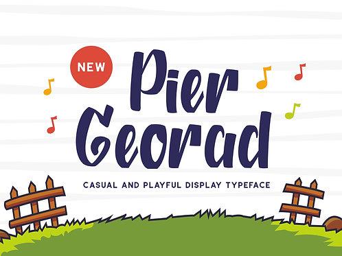 Pier Georad - Display Typeface
