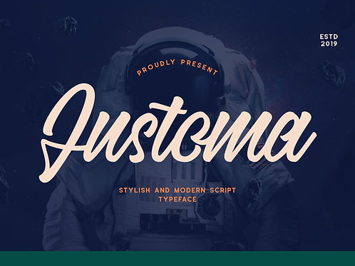 Justoma – Stylish and Modern Script Typeface