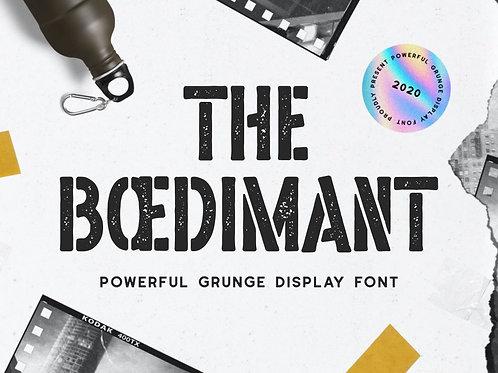 Boedimant - Grunge Display Font
