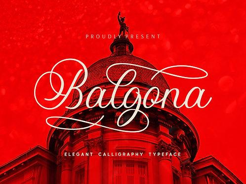 Balgona – Elegant Calligraphy Typeface