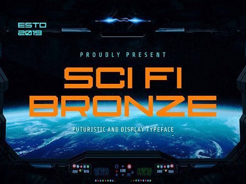 Sci Fi Bronze – Futuristic And Display Font