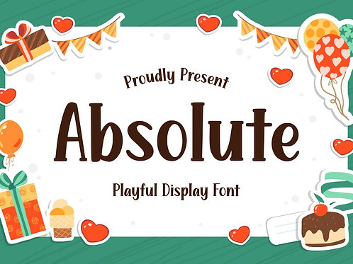 Absolute - Playful Display Font