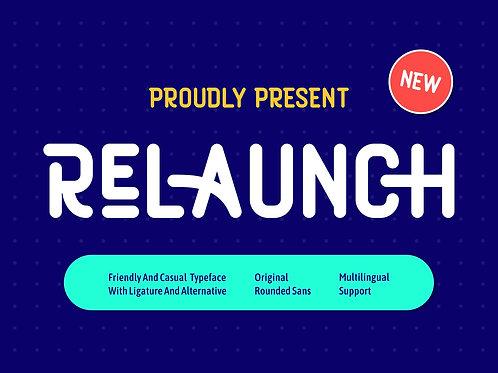 Relaunch – Sans Serif Typeface